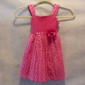 ♥️Sweet heart rose pink polka dot dress